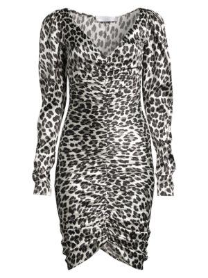 Colette Animal-Print Stretch Silk Dress