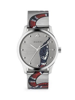 G-Timeless Stainless Steel & Mesh Bracelet Watch