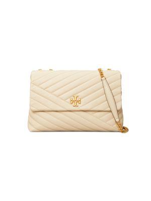 Kira Chevron Leather Shoulder Bag