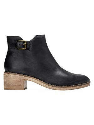 Harrington Grand Buckle Leather Ankle Boots