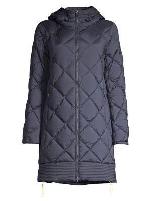 Pamela-D Diamond-Quilted Down Walker Coat