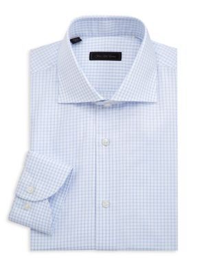 COLLECTION Windowpane Check Cotton Shirt