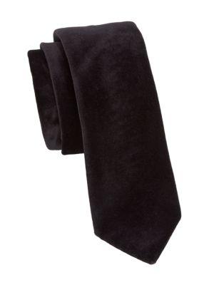 COLLECTION Solid Silk-Velvet Tie