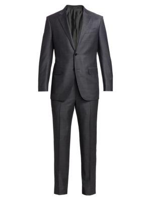 Trofeo Tonal Wool Suit Jacket