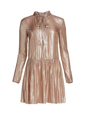 Lamé Drop-Waist Dress