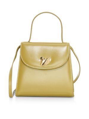 Little Lady Swirl Leather Top Handle Bag