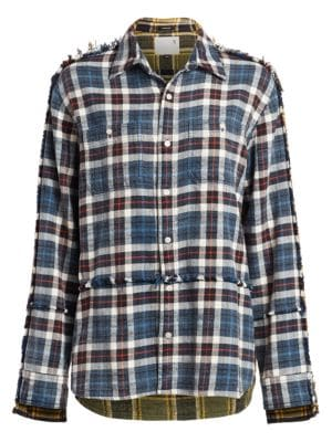 Mended Mix Plaid Shirt