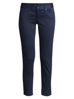 Worth Low-Rise Sateen Skinny Jeans