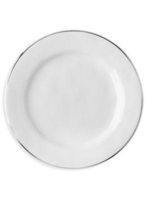 Puro Platinum-Rim Ceramic Stoneware Dessert & Salad Plate