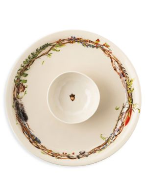 Forest Walk 2-Piece Chip & Dip Bowl & Platter Set