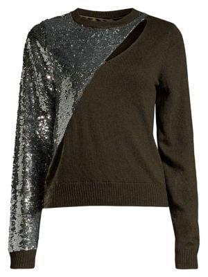 Teagan Cutout Sequin Sweater
