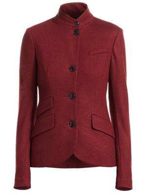 Slade Wool Mandarin-Collar Blazer