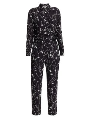Therese Print Shirt Jumpsuit