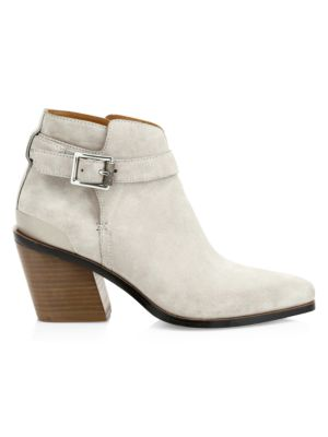 Ramone Buckle Suede Ankle Boots