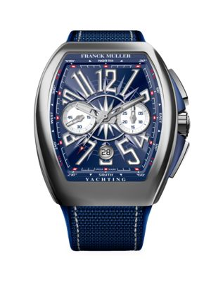 Vanguard Yachting Stainless Steel Alligator & Rubber Strap Chronograph Watch