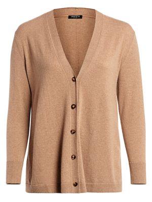 A-Line Cashmere Cardigan Sweater