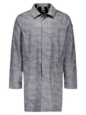 Reflective Camouflage-Print Rain Jacket