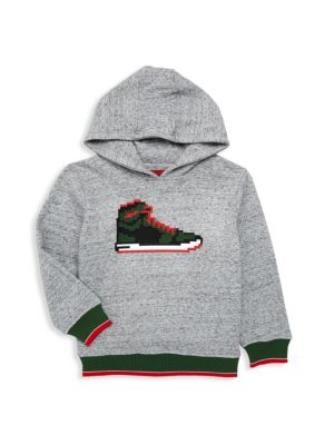 Little Boy's & Boy's Sneaker Cotton Hoodie