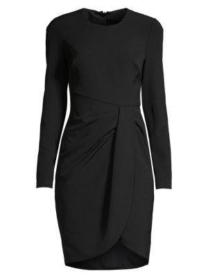 Ivana Ruched Faux Wrap Sheath Dress