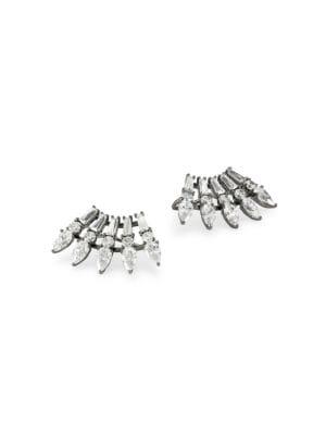 Tivoli Ruthenium-Plated Sterling Silver & Cubic Zirconia Eyelash Climber Earrings