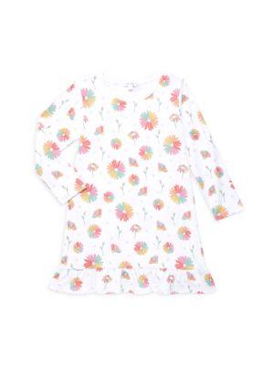Little Girl's & Girl's Daisy Ruffled Pima Cotton Dress