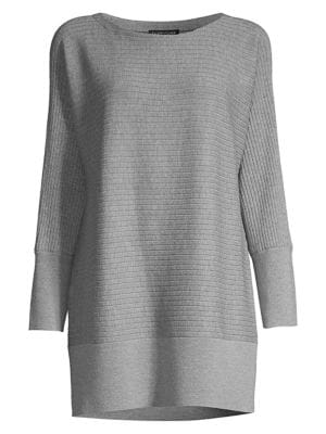 Ribbed Wool Longline Pullover
