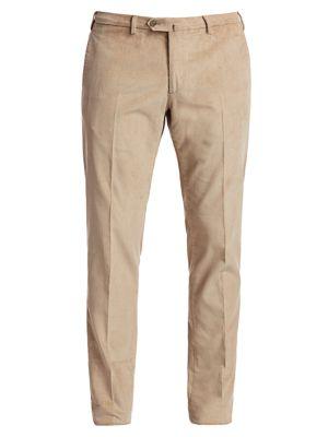 Slim-Fit Cotton & Cashmere Corduroy Trousers