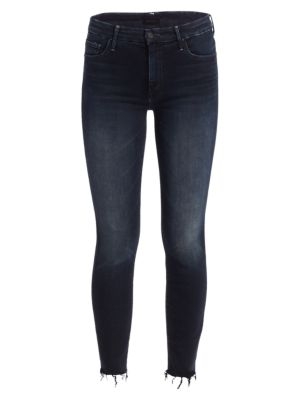 The Looker High-Rise Ankle Fray Hem Jeans