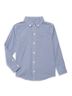Little Boy's & Boy's Gingham Button-Front Shirt