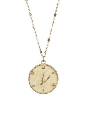 Tati 14K Yellow Gold Vermeil Wishbone Medallion Necklace