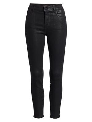 Alana High-Rise Coated Crop Skinny Jeans