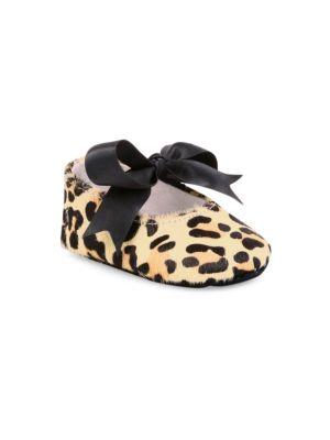 Baby Girl's Briley Leopard Print Calf Hair Mary Jane Flats