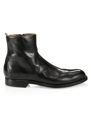 Tempus Leather Ankle Boots
