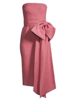 Greta Bow Strapless Midi Dress