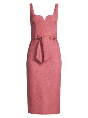 Greta Crinked Sweetheart Sheath Dress