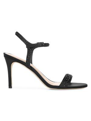 Madeleine Embellished Satin Sandals