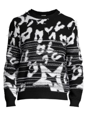 Abstract Print Lambswool Sweater