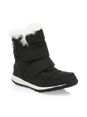 Kid's Whitney Waterproof Faux Fur-Cuff Boots