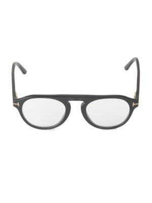 49MM Round Blue Block Optical Glasses