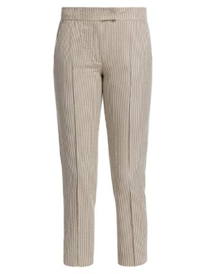 Frankie Cropped Seersucker Pants