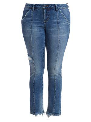 Yareli Front-Seam Cigarette Leg Jeans