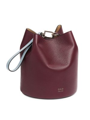Ava Leather Bucket Bag