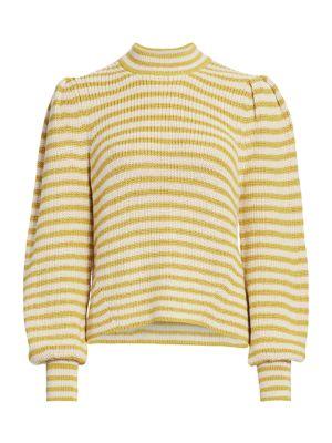 Mia Striped Alpaca Sweater