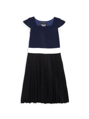 Girl's Crystal Cap-Sleeve Dress