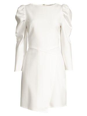 Upton Puff-Shoulder Sheath Dress