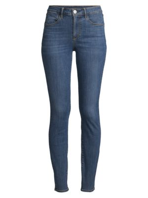 High-Rise Channel Seam Skinny Jeans