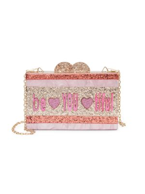 Be You Ti Ful Glitter Acrylic Box Bag