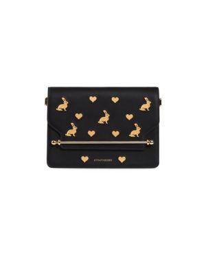 Mini East/West Rabbits Leather Shoulder Bag