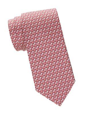 Tricolor Gancini Silk Tie