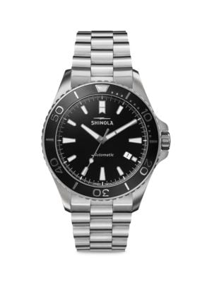 The Lake Superior Monster Automatic Stainless Steel Bracelet Watch